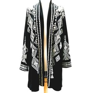 Johnny Was Embroidered Cotton Duster Coat L-XL-XXL